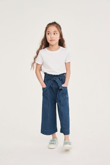 Check Wide Leg Trousers (3-16yrs)