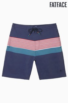 FatFace Blue Camber Multi Stripe Swimmers