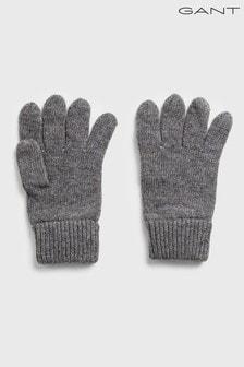 Серые шерстяные перчатки GANT