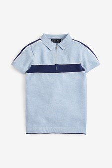 Chest Stripe Knitted Polo (3-16yrs)