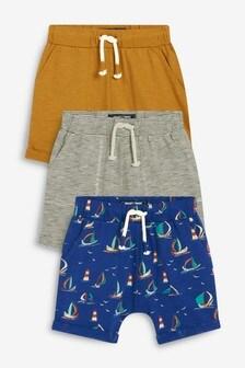 3 Pack Lightweight Boat Shorts (3mths-7yrs)