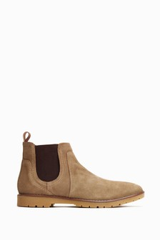 Base London Taupe Zimmer Chelsea Boots