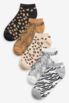Набор из пяти пар носков до щиколотки с мягкой подошвой