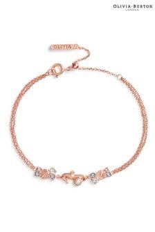 Olivia Burton Glitzerndes Armband mit Seepferdchen-Design
