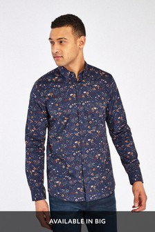 Slim Fit Garden Floral Long Sleeve Shirt