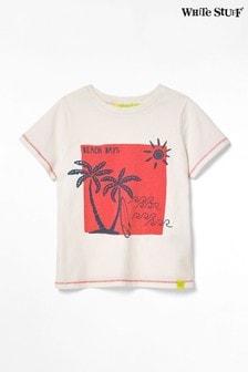 White Stuff White Kids Aloha Jersey T-Shirt