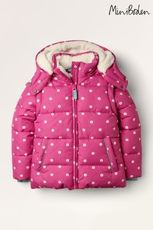 Mini Boden Pink Cosy 2-In-1 Padded Jacket