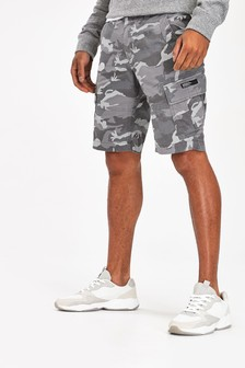Superdry Grey Camouflage Shorts