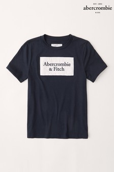 Abercrombie & Fitch Navy Central Logo T-Shirt