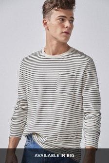 Pásikavé tričko s dlhými rukávmi