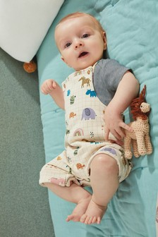 סט אוברול ובגד גוף של GOTS Organic (0 חודשים עד גיל 2)
