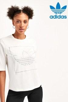 T-shirt adidas Originals Fakten blanc