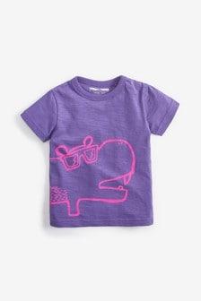 Tričko s krátkymi rukávmi a hrochom (3 mes. – 7 rok.)