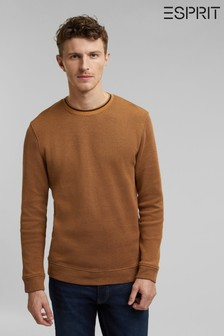 Esprit Brown Men Long Sleeve Sweatshirt