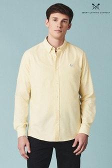 Chemise slim Oxford Crew Clothing Company jaune