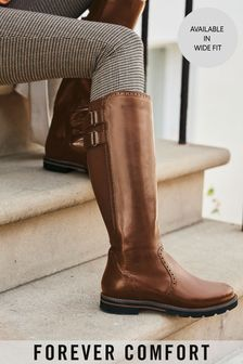 Forever Comfort® Long Brogue Boots