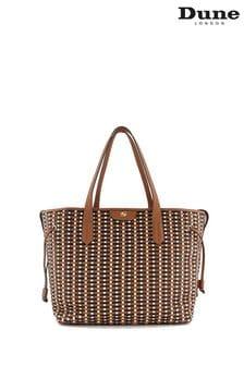 Dune London Tan Daitlynn Large Woven Shopper Bag