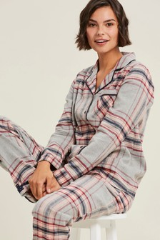 Camisa de pijama con diseño de cuadros multicolor de FatFace
