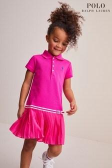 Ralph Lauren Polo-Kleid mit Logo, Pink