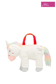 Joules White Sparkle Character Bag