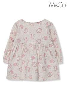 M&Co童裝大地色刺猬印花連衣裙