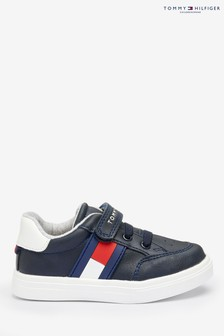 Tommy Hilfiger Blue Flag Lace And Velcro Trainers