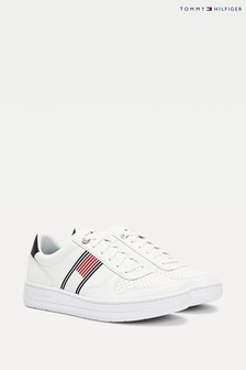 Tommy Hilfiger White Basket Flag Trainers