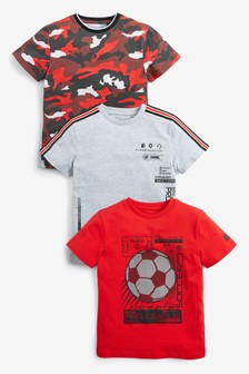 حزمة من3تيشيرتات كرة قدم مموهة جيرسيه (3-16 سنة)
