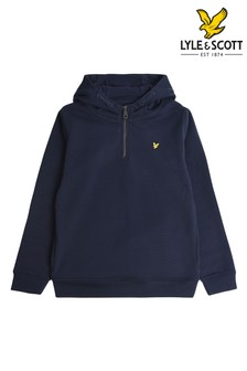 Lyle & Scott Blue Quarter Zip Sport Hoody