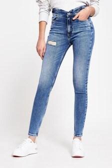 River Island Denim Medium High Rise Skinny Rodney Jeans