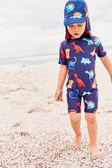 Sonnenschutz-Badeanzug mit Dino-Motiv (3Monate bis 7Jahre)