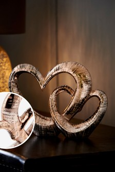 Blush Heart Ornament (830643)   $23