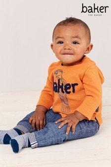 סווטשירט לתינוק שלBaker byTed Baker בצבע כתום