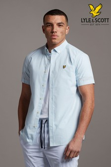 Lyle & Scott Plus Size Gingham Short Sleeve Shirt
