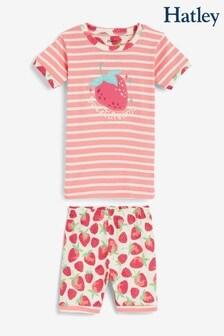 HatleyDelicious BerriesKurzes Pyjamaset ausaus Bio-Baumwolle, Pink