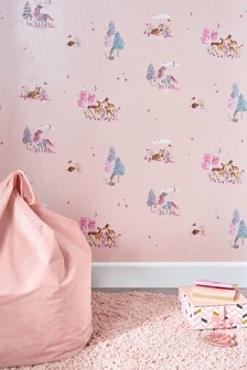 Glitter Magical Woodland Wallpaper