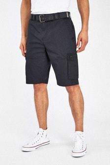 """מכנסי דגמ""""ח קצרים עם חגורה"""