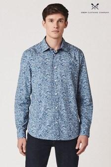 Crew Clothing Company Blue Tangled Vine Floral Print Classic Shirt