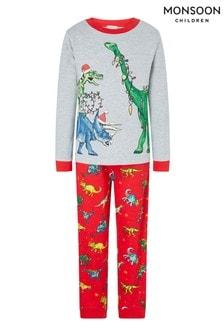 Monsoon Xmas Dinosaur Pyjama Set