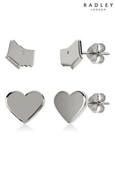 Radley London Hearts & Dog Double Earring Set