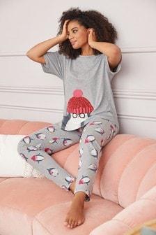 Пижамный комплект из смесового хлопка