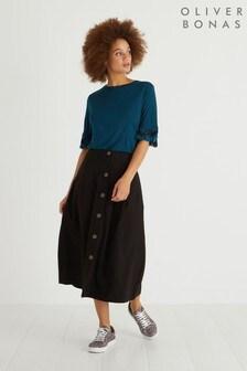 Oliver Bonas Button Through Midi Skirt