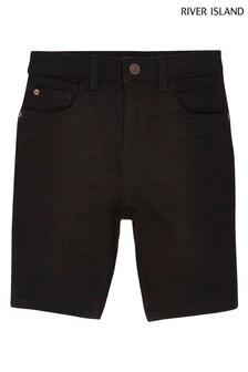 River Island Denim Sid Black Shorts