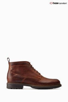 Base London® Tan Clifton Lace-Up Work Boots