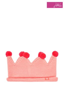 Joules Pink Thora Knitted Crown Headband