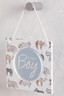 """Настенное украшение с дикими животными и надписью """"Baby"""""""