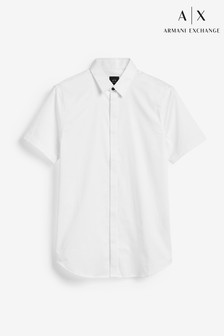 Armani Exchange White Short Sleeve Shirt