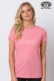 Animal Reel Me In T-Shirt mit Grafik, Pink
