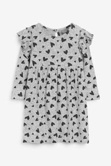 Bequemes Kleid mit Herzchenmuster (3Monate bis 7Jahre)