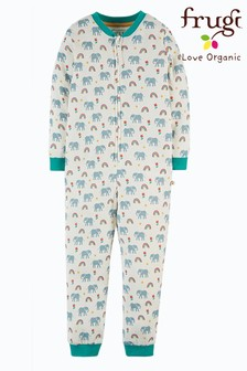 Frugi Organic Cotton All-In-One - White Elephants